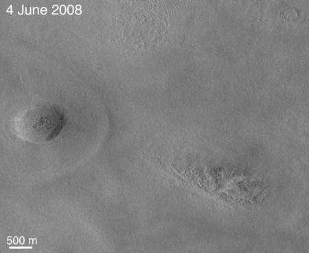 Cliquer sur l'image pour l'agandir. Cette image a été prise dans la région d'Arcadia Planitia. Crédit : NASA/JPL-Caltech/University of Arizona