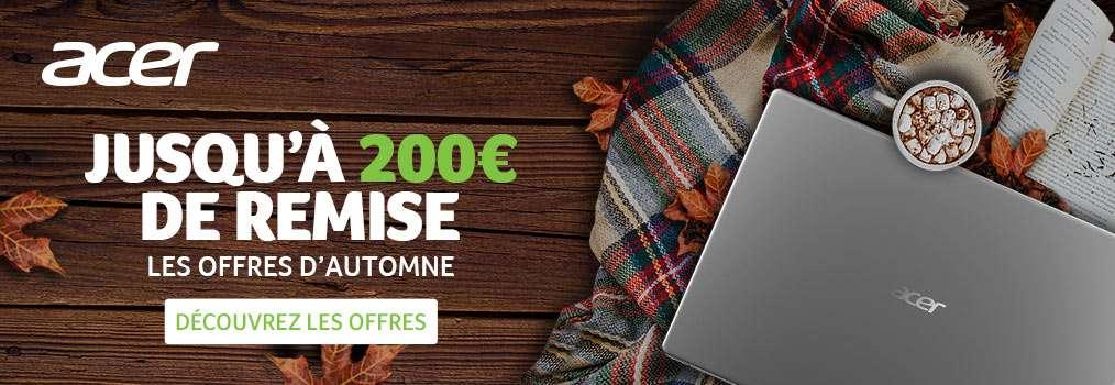N'hésitez plus et profitez de la remise de 200 euros pour réaliser de bonnes affaires avec Acer © Acer