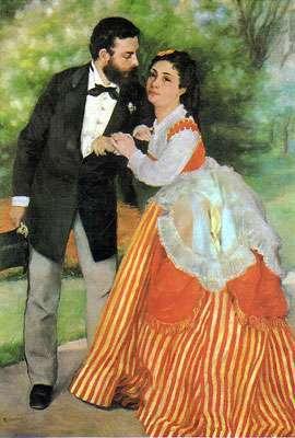 Les fiancés ou le ménage Sisley - 1868 - Wallraf-Richartz Museum