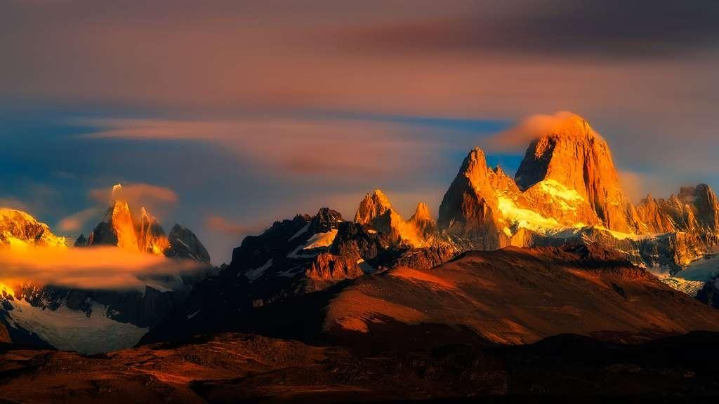 Trois sommets du parc national Los Glaciares