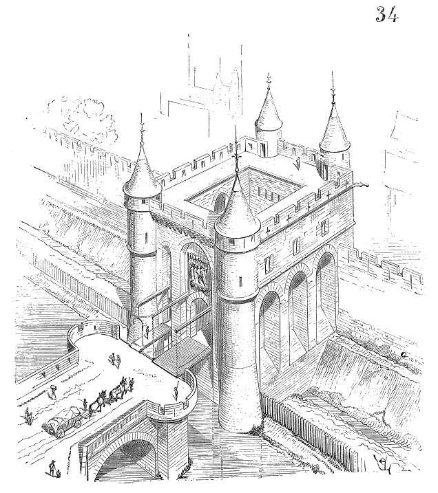 L'ancienne porte médiévale de l'enceinte de Charles V. © Anonyme, Wikimedia Commons, Domaine Public