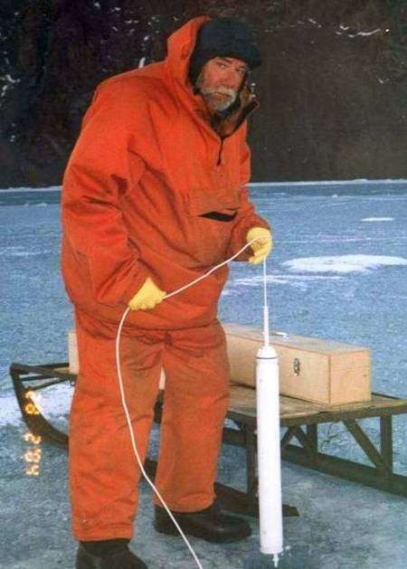 Modèle de sonde thermique actuellement utilisée par l'expédition russe. Crédit Scar