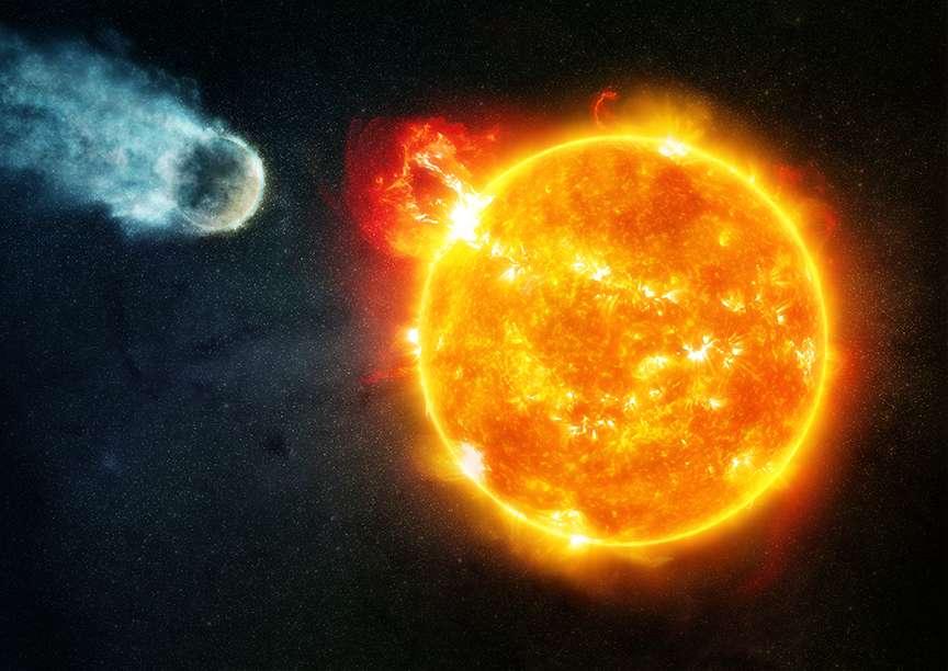 L'étude, menée par Hubble et Chandra, montre qu'une naine rouge comme l'étoile de Barnard, âgée de 10 milliards d'années, bouscule son environnement de violentes éruptions environ 25 % de son temps. © Nasa, CXC, M. Weiss