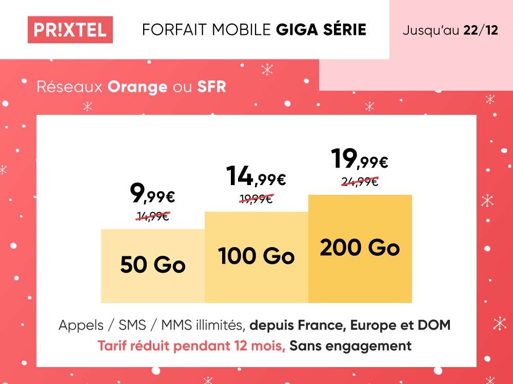 Forfait Ajustable Giga Série en promotion © Prixtel