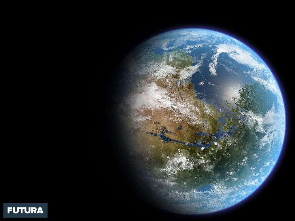 Vue d'artiste de Mars terraformée
