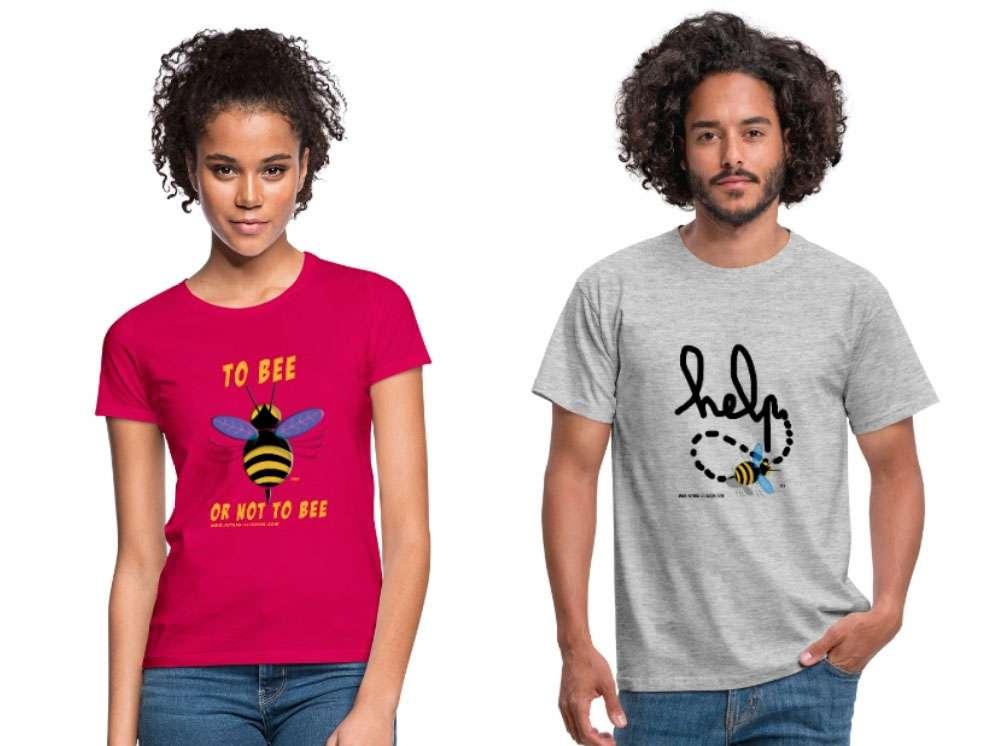 Arborer « To bee or not to bee » ou encore « Help » pour se faire le témoin des abeilles qu'il faut protéger ! © Futura