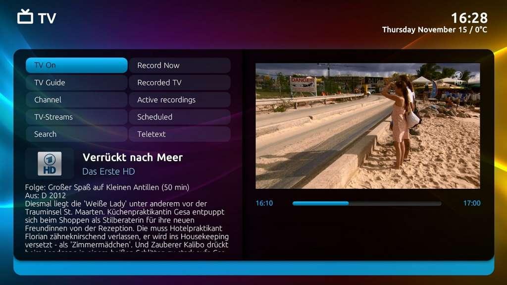 MediaPortal est le meilleur Media Center 100 % gratuit pour les débutants. © MediaPortal