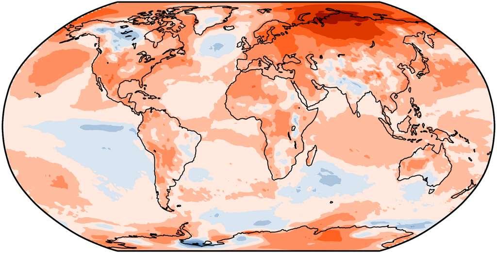 En 2020, c'est l'ensemble de la planète qui a eu chaud ! © Copernicus Climate Change Service, ECMWF