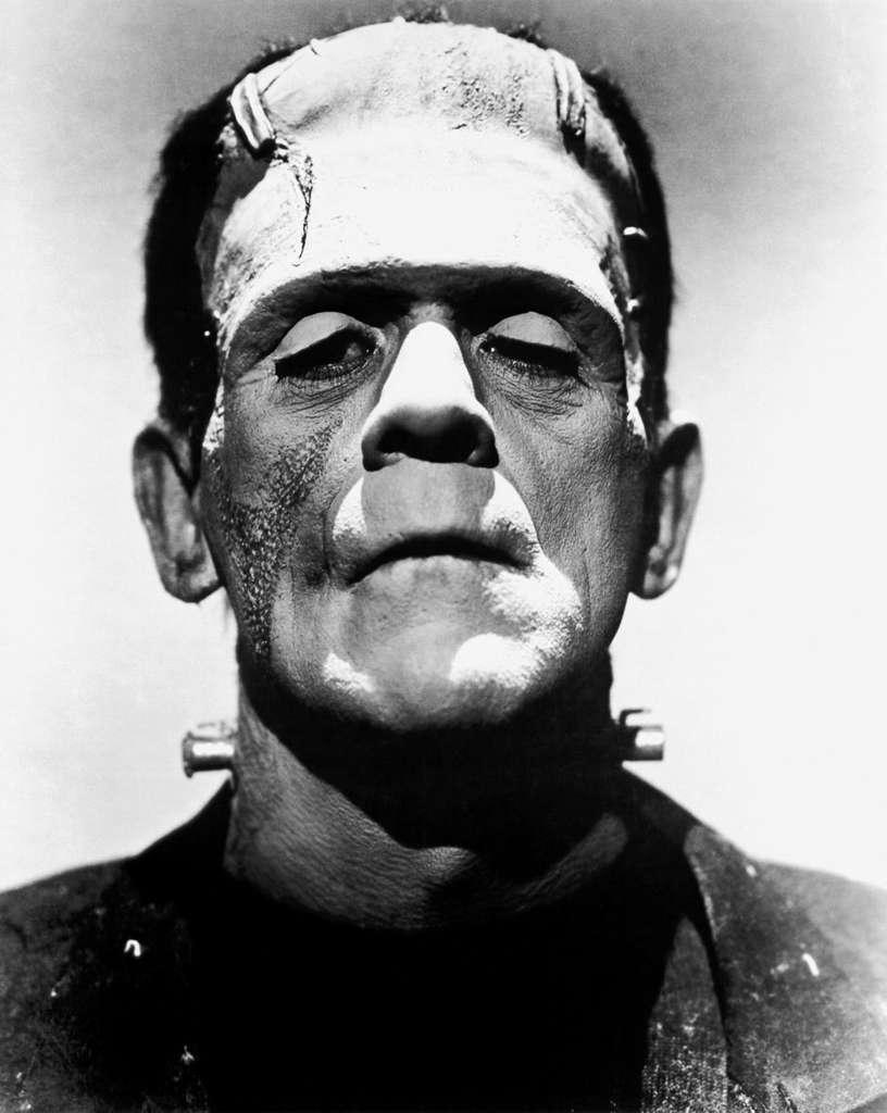 Portrait de Boris Karloff dans le rôle du monstre de Frankenstein, icône des créatures artificielles maudites. © Wikimedia Commons, DP