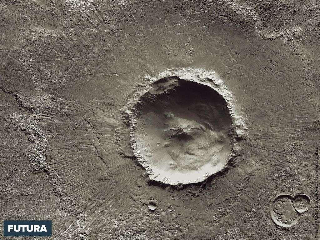 Bacolor Crater sur Mars