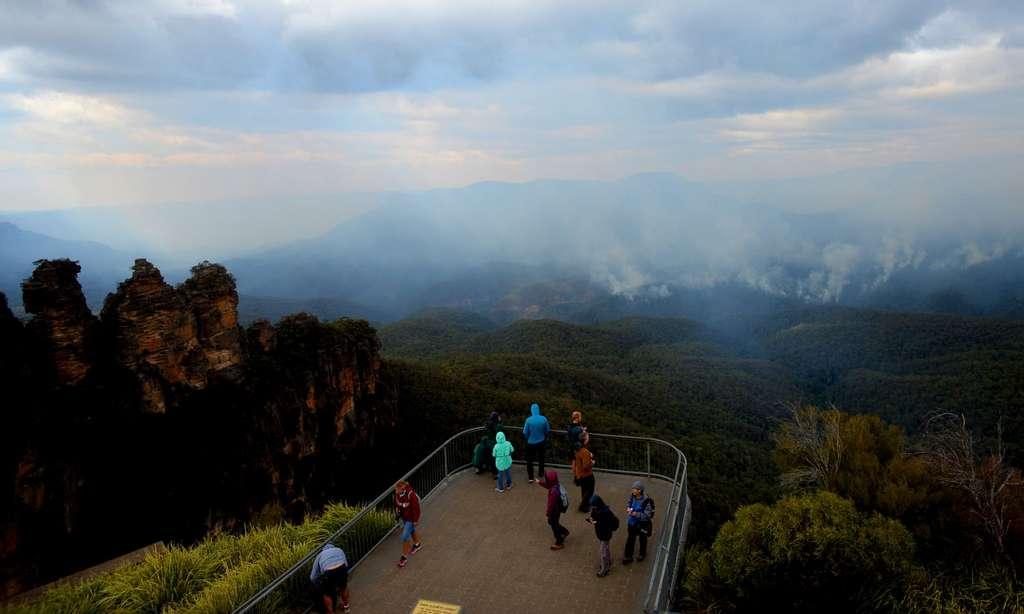 Les incendies dans la région des Blue Mountains, lundi 2 décembre. © Jeremy Piper, AAP