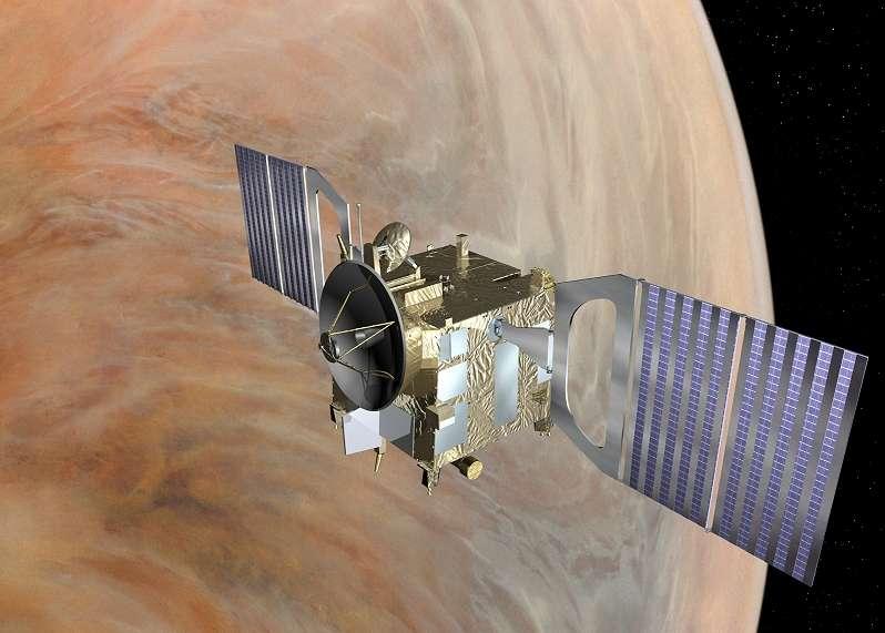 Lancée en 2005, Venus Express est la sonde européenne qui étudie actuellement la deuxième planète du Système solaire. © Esa