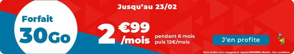 Forfait 30Go à prix bradé © Auchan Télécom
