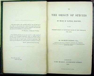 L'Origine des espèces, par Charles Darwin. © Commons