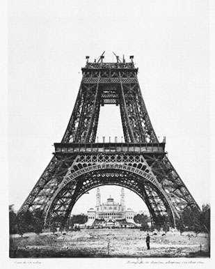 Montage de la deuxième plateforme (21 août 1888) Atlas Photo, PL.8 © BNF