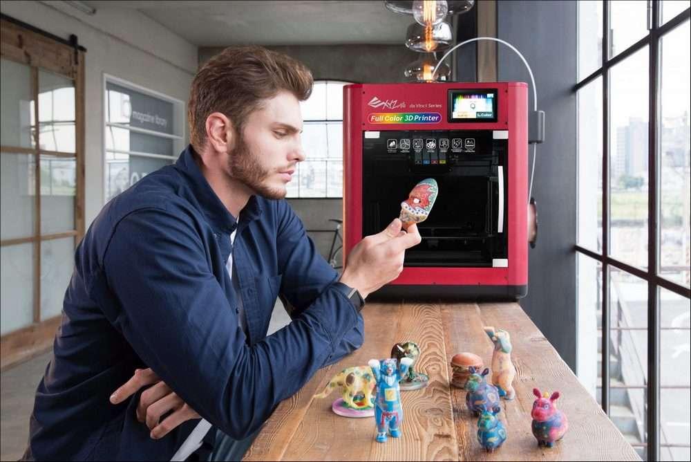 L'imprimante 3D multicolore Da Vinci Color est commercialisée à 3.600 euros. © XYZprinting