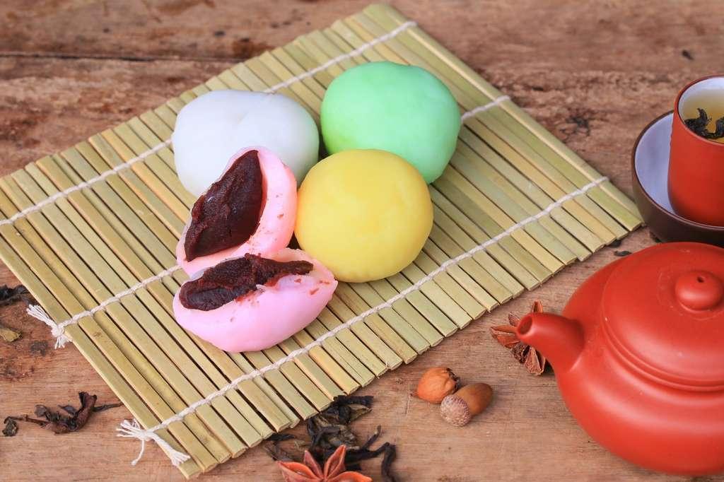 Le daifuku est une pâtisserie traditionnelle japonaise à base de pâte d'azuki. © oilslo, Fotolia