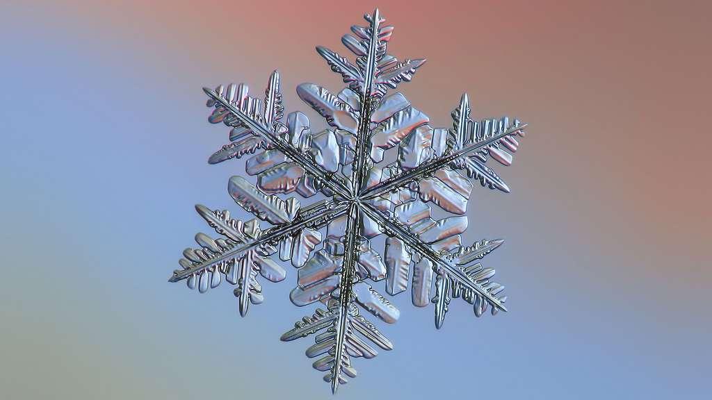 Les flocons de neige peuvent aussi être grossiers