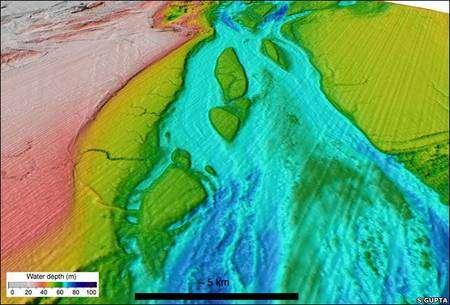 Détail du relevé par sonar à haute résolution. Crédit Imperial College of London.