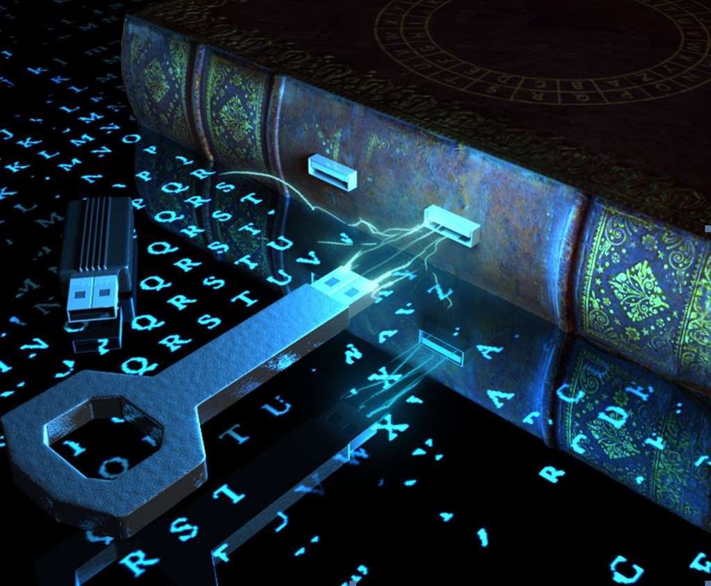 On peut voir la cryptologie comme l'art des codes secrets et de la serrure chiffrée. © Clément Dorando
