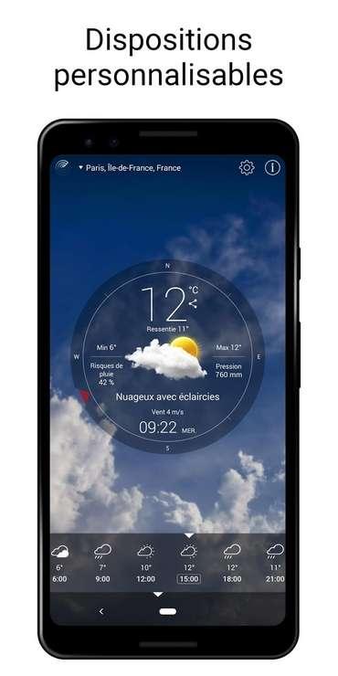 Météo Live intègre même un détecteur d'ouragan. © Apalon Apps