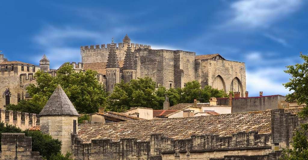 Palais des Papes vue de la ville à Avignon. © AudreyH, Flickr, CC by-nc 2.0