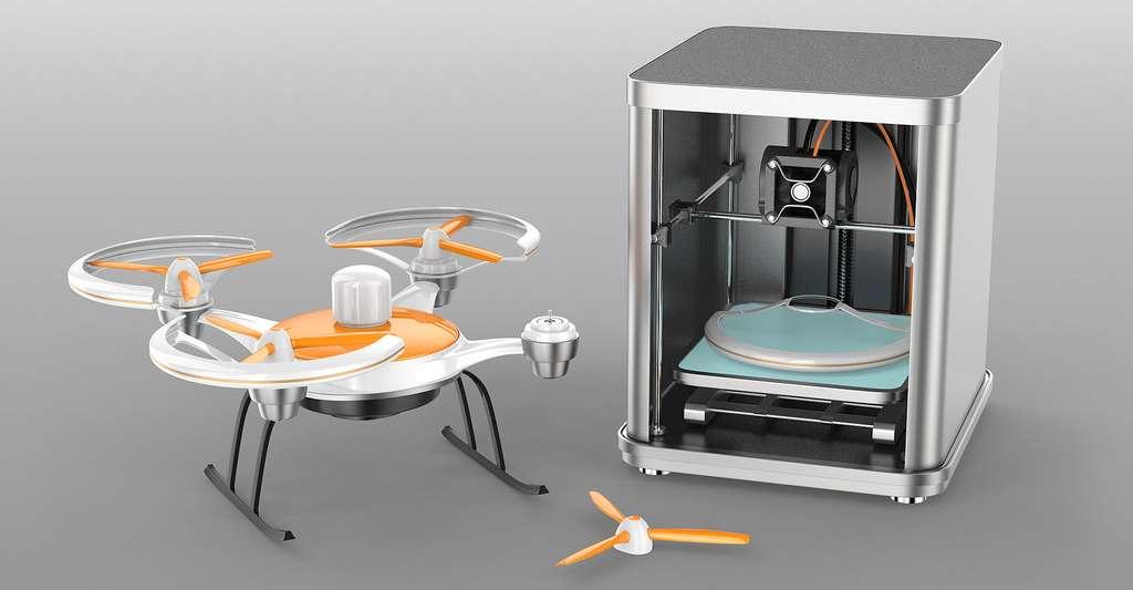 Reproduction en 3D de pièces d'un drone. © Chesky, Shutterstock