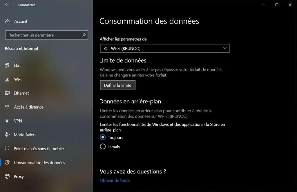 Consommation des données. © Microsoft Corporation