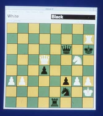 L'échiquier virtuel de Deep Blue. À l'issue de sa défaite contre Deep Blue, Kasparov suspectait une intervention humaine pour réaliser un coup aussi sophistiqué. Il s'agissait en réalité d'un bug qui a suffi à perturber le grand champion jusqu'à la fin de la rencontre. © IBM Research/Flickr