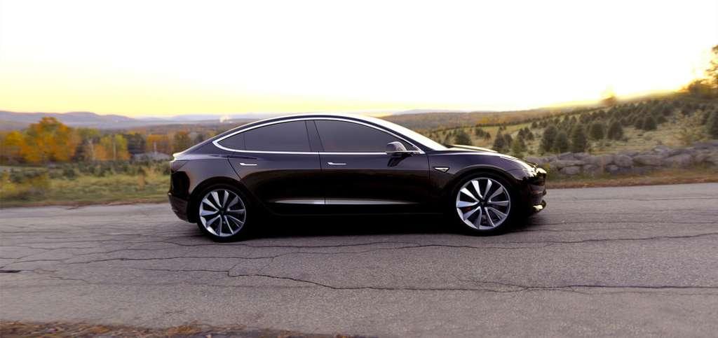 La Tesla Model 3 est le premier modèle de la marque destiné à un public moins exclusif. © Tesla