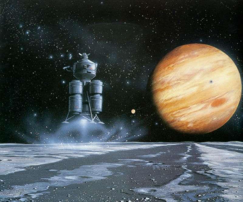À plus long terme, les lunes glacées de Jupiter pourraient devenir des destinations de choix pour des missions habitées. © DR
