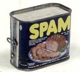 Avant de désigner un mail non sollicité, ou « pourriel », le spam était le mot d'argot utilisé pour qualifier le corned-beef. © DR
