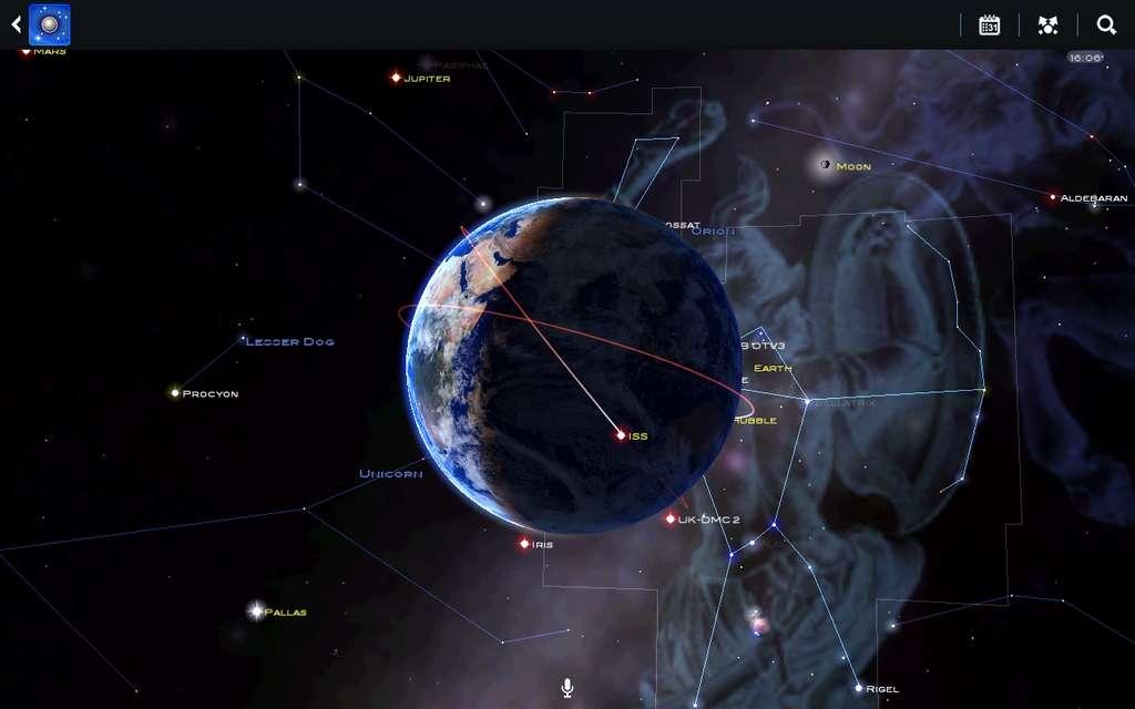 Carte Du Ciel est une application d'astronomie utilisant la réalité augmentée © Escapist Games Limited.