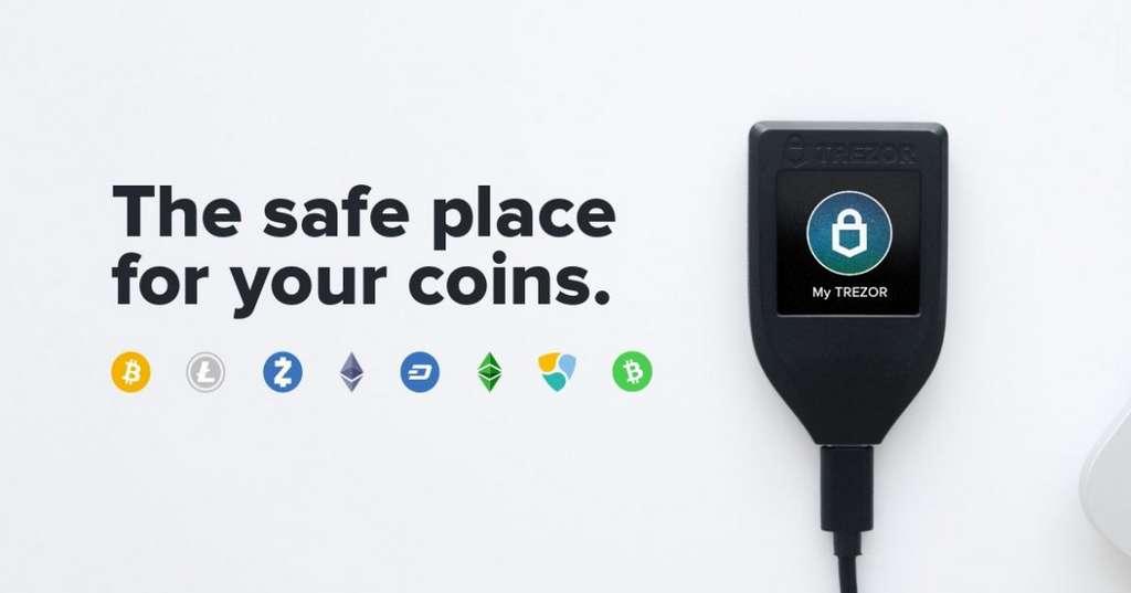 Trezor propose un boîtier pour gérer et protéger ses bitcoins, mais ne possède pas d'application sur iOS et Android. © Trezor