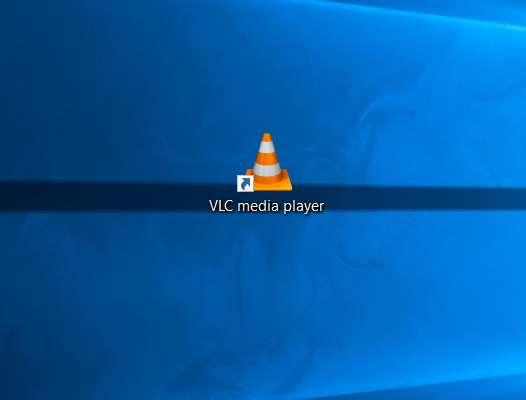 Lancez VLC en cliquant sur l'icône sur le Bureau. © VideoLAN Organization
