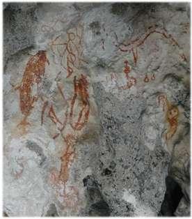 Photo 6. Des dessins comme ceux-ci font penser que ce site devait remplir une fonction rituelle. © O.Dufourneaud/MisoolEcoresort 2007