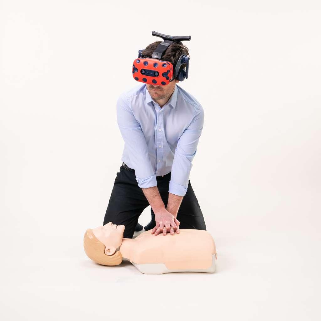 La jeune pousse D'un Seul Geste propose une formation immersive express aux gestes de premiers secours. © D'un Seul Geste