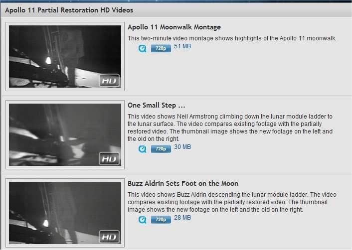 Les vidéos HD filmées par Armstrong et Aldrin sur la Lune sont désormais accessibles en ligne. A télécharger d'urgence, c'est légal !
