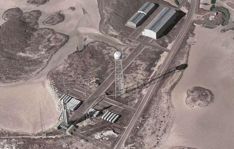 Le pas de tir du futur complexe de lancements de Boca Chica de SpaceX d'où décolleront chaque mois des Falcon 9 et Falcon Heavy mais également une variété de petits lanceurs suborbitaux dont certains réutilisables. © SpaceX