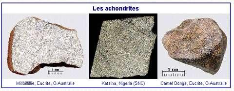 Les lithoïdes sont des météorites non ferreuses. © DR