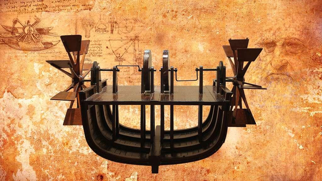 Léonard de Vinci et sa vision du bateau à aubes