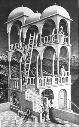 Le Belvédère d'Escher. © Reproduction et utilisation interdites