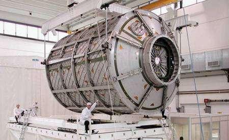 Le laboratoire spatial européen Columbus. Crédit Nasa