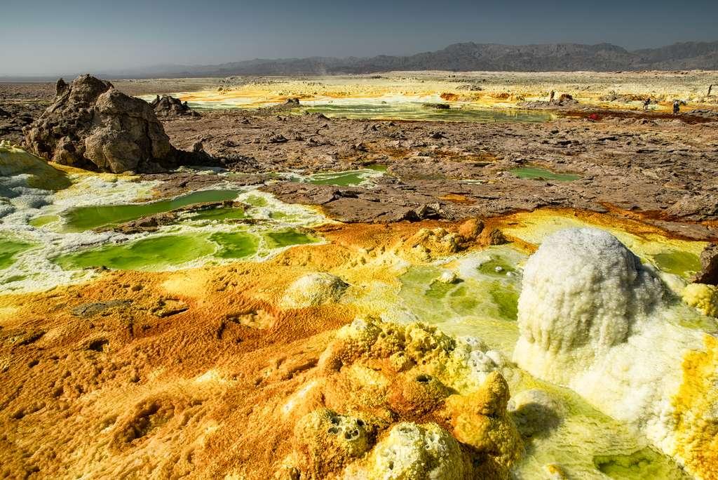 Le volcan Dallol dans la dépression de Danakil en Éthiopie offre un aperçu de la Terre il y a des millions d'années. © Andrea Moroni, Flickr