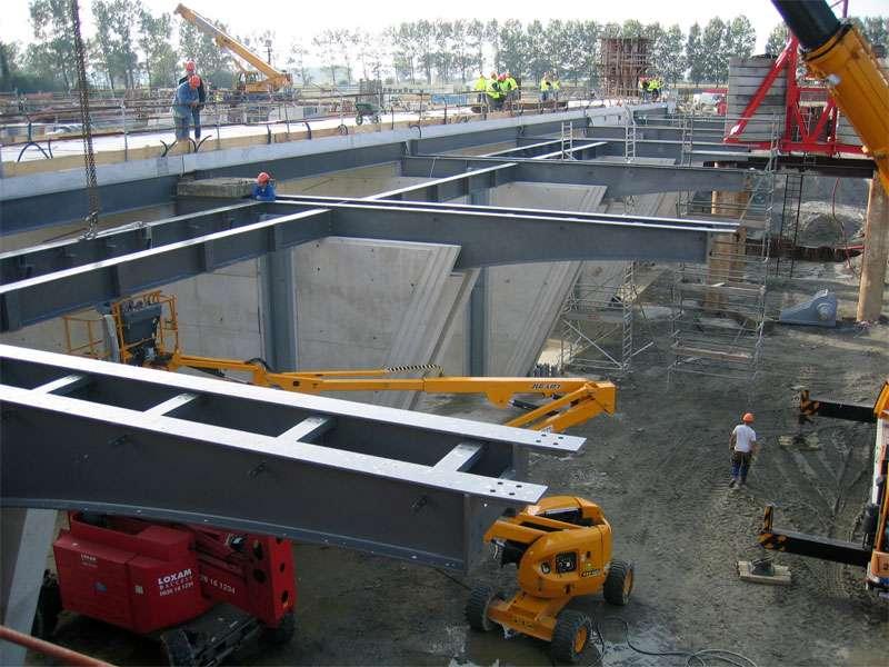 Superstructures du barrage du Couesnon