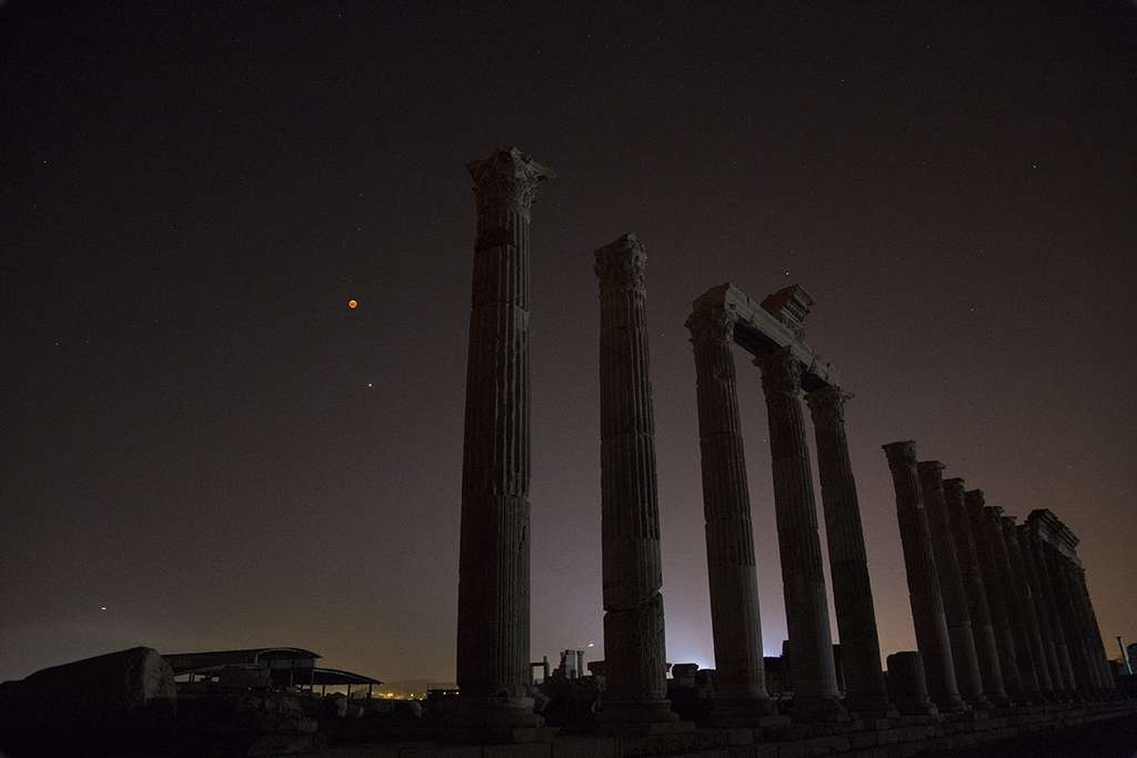 Spectacle cosmique dans le ciel de Turquie. © Uğur İkizler, Spaceweather