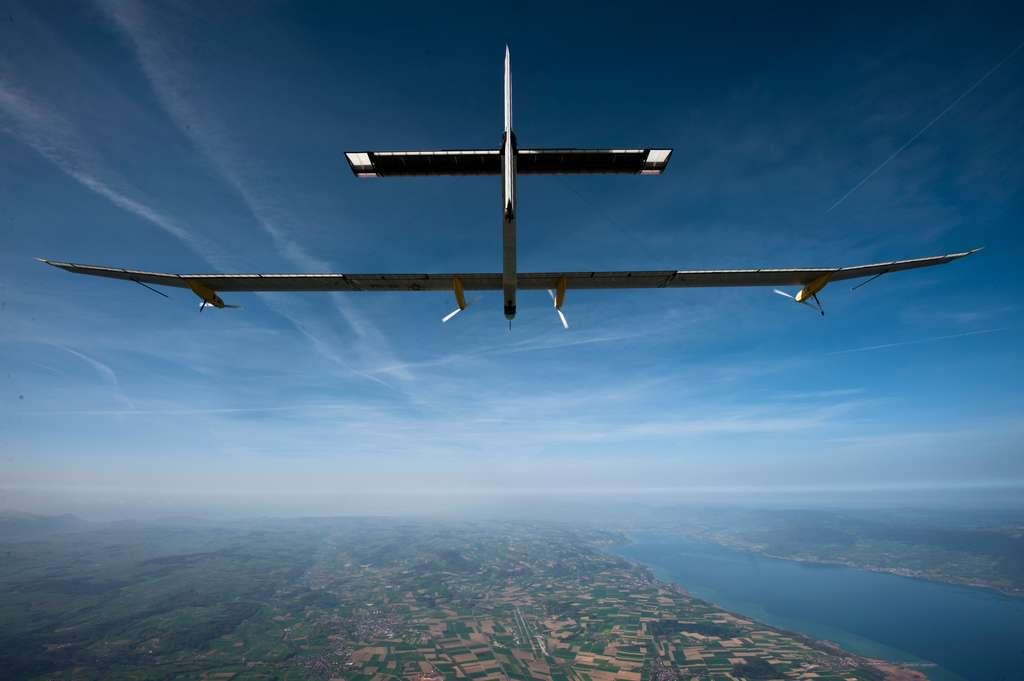 En 2010, l'avion solaire Solar Impulse réalisait son premier vol. © Solar Impulse, Jean Revillard, rezo.ch