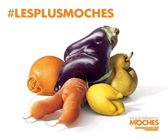 Avec ses fruits et légumes moches, Intermarché donne une seconde chance aux produits mal calibrés. © Intermarché