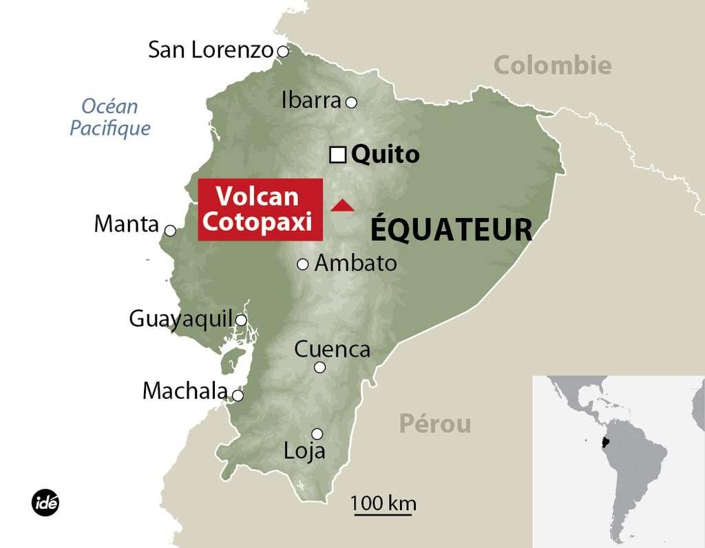 L'Équateur est un pays de volcans où ils se comptent par dizaines. Certains culminent à plus de 5.000 m. Ils constituent l'arc volcanique équatorien résultant de la subduction de la plaque océanique Nazca sous la plaque continentale d'Amérique du Sud. © IDE