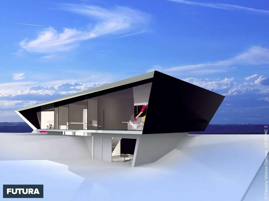 Maison contemporaine vue mer